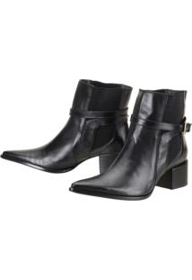 Bota Dududias10 Cano Curto London Preto