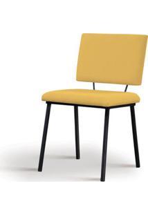 Cadeira Preciosa Amarela Base Preta - 55858 - Sun House