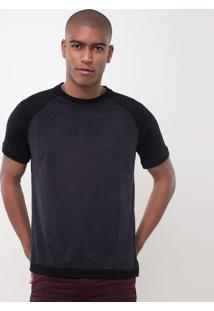 Camiseta Slim Suede Em Algodão Peruano