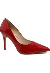 Scarpin Zariff Shoes Salto Fino - Feminino-Vermelho