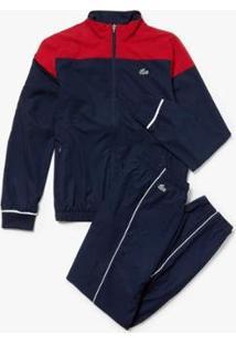 Casaco E Calça Lacoste Sport Regular Fit Masculino - Masculino-Vermelho+Azul