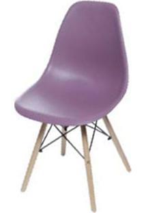 Cadeira Eames Polipropileno Roxa Base Madeira - 53428 - Sun House