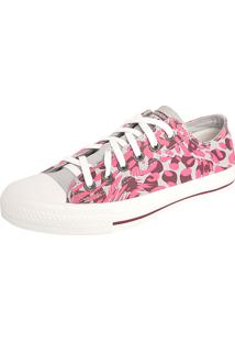 Tênis Converse All Star Animal Print Leather Cinza
