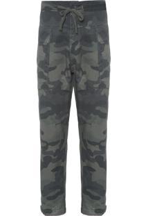 Calça Masculina Utilitária Camuflada - Verde