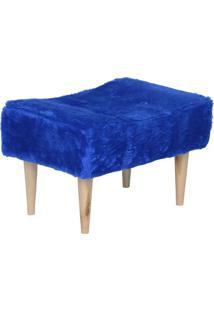Puff Short Pelúcia Azul