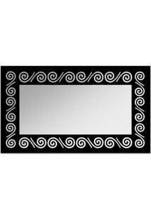 Espelho De Parede 12878P Preto 70X110 Art Shop