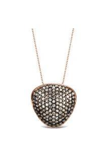 Pingente Bold Ouro Vivara E Diamantes Brown 16.5 Mm