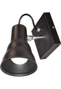 Arandela De Sobrepor 1 Lâmpada E27 Hol Taschibra Preto Fosco
