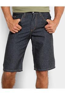 Bermuda Jeans Rockblue Básica Masculina - Masculino-Preto