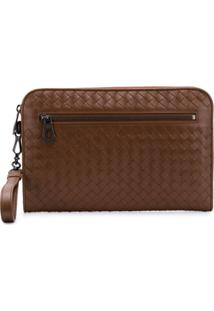 Bottega Veneta Urbandoc Document Case - Marrom