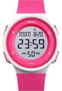 Relógio Infantil Skmei Digital Feminino - Feminino-Rosa+Branco