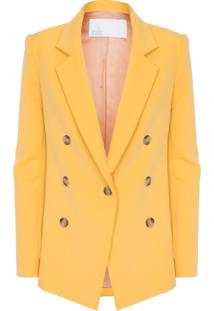 Blazer Feminino Stretch Saffron - Amarelo