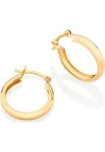Brinco Argola Larga Lisa Banhada A Ouro 2,5 Cm Lys Lazuli Feminino - Feminino-Dourado