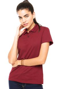 Camisa Polo Manga Curta Malwee Slim Vinho