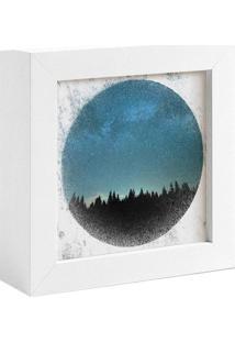 Quadro Decorativo Decohouse Moldura Art Azul