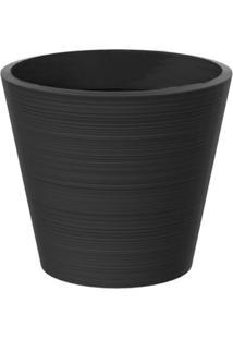Vaso Decorativo De Plástico Baixo Linea 67Cmx78Cm Japi Chumbo