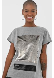 Camiseta Sommer Paetês Cinza - Kanui