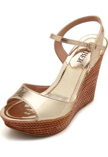 Sandália Amber Metalizada Dourada