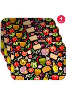 Jogo Americano Love Decor Wevans Premium Pizza Kit Com 4 Pçs