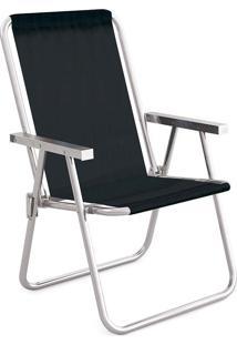 Cadeira Alta Conforto Alumínio Sannet Preto