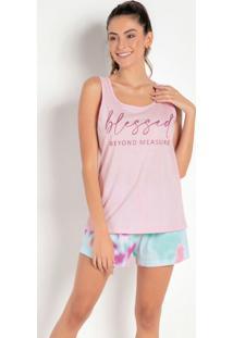 Pijama Regata Rosa/Tie Dye