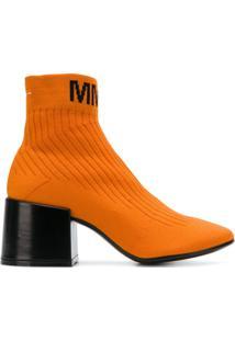 Mm6 Maison Margiela Bota De Algodão E Couro - Amarelo