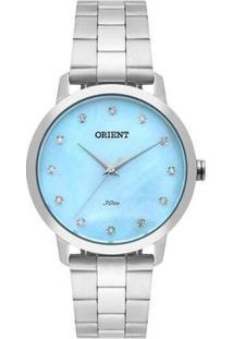 Relógio Orient Feminino Fbss0071 A1Sx - Feminino-Prata+Azul Claro