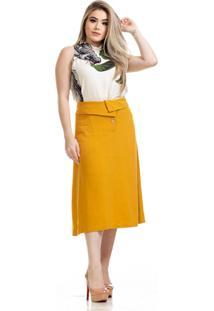 Blusa Clara Arruda Estampada Gola Alta 20651 Multicolorido