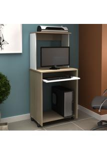 Mesa Para Computador Ho-2936 Avelã/Branco - Hecol