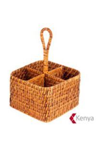 Suporte Para Talheres Em Rattan - Kenya