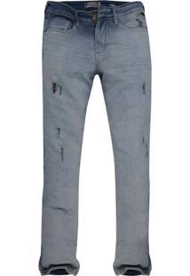 Calça Jeans Khelf Stretch Fit Delave Azul
