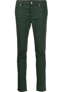 Escada Sport Cropped Skinny-Fit Jeans - Verde