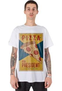 Camiseta Stoned Pizza For Presidente Masculina - Masculino