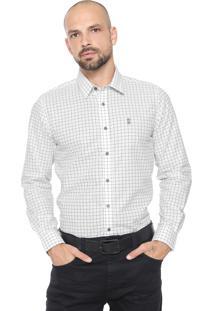 Camisa Sergio K Reta Quadriculada Branca/Preta