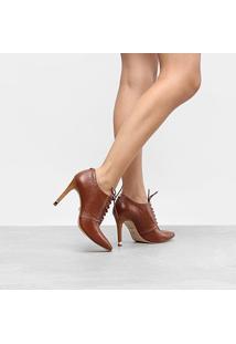 Ankle Boot Couro Jorge Bischoff Salto Alto - Feminino