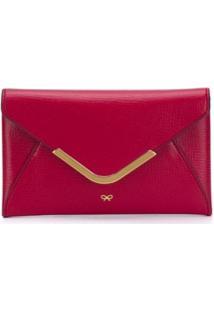 Anya Hindmarch Carteira Envelope - Vermelho