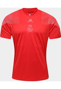 Camiseta Real Madrid Icon Adidas Masculina - Masculino