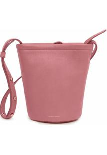 Mansur Gavriel Bolsa Bucket Mini Com Zíper - Rosa