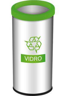 Lixeira Seletiva Decorline 40.5L Em Aço Inox Verde 3101203 Brinox