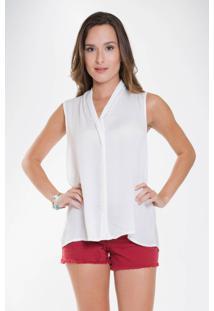 Camisa Mercatto Sem Manga Off-White