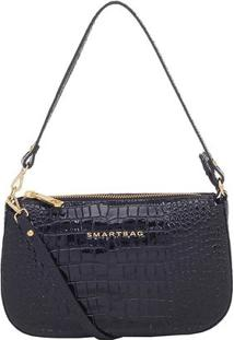 Bolsa Smartbag Transversal - Feminino-Preto