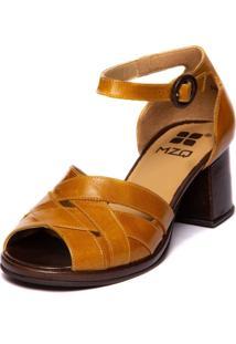 Sandalia Feminina Amarela Grace Kelly - Pequi / Chocolate 5868