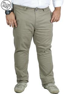 Calça Plus Size Sarja Bigshirts - Kaki