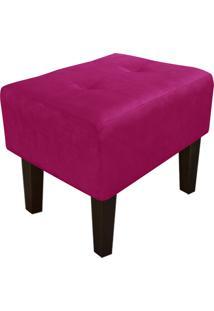 Puff Decorativo Livia Pés Chanfrado Suede Pink - D'Rossi