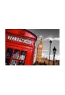 Painel Adesivo De Parede - Londres - Cabine Telefônica - 634Pnp