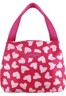 Bolsa Tã©Rmica Animal Print- Pink & Rosa Claro- 19X23Jacki Design