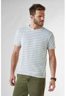 Camiseta Reserva Pf Df Listrada Tricot - Masculino-Bege