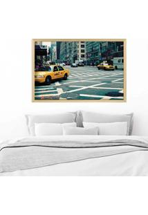 Quadro Love Decor Com Moldura New York City Madeira Clara Grande