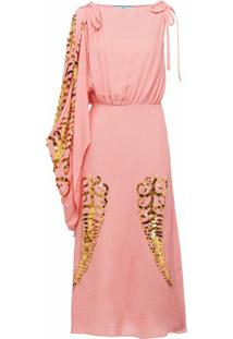 Prada Vestido De Seda - Rosa