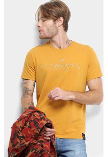 Camiseta Ellus Fine Industry Masculina - Masculino-Amarelo Escuro
